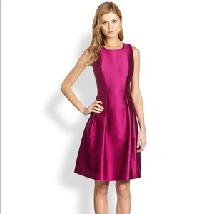 Kay Unger Fuchsia Pleat Cocktail Dress Size 16